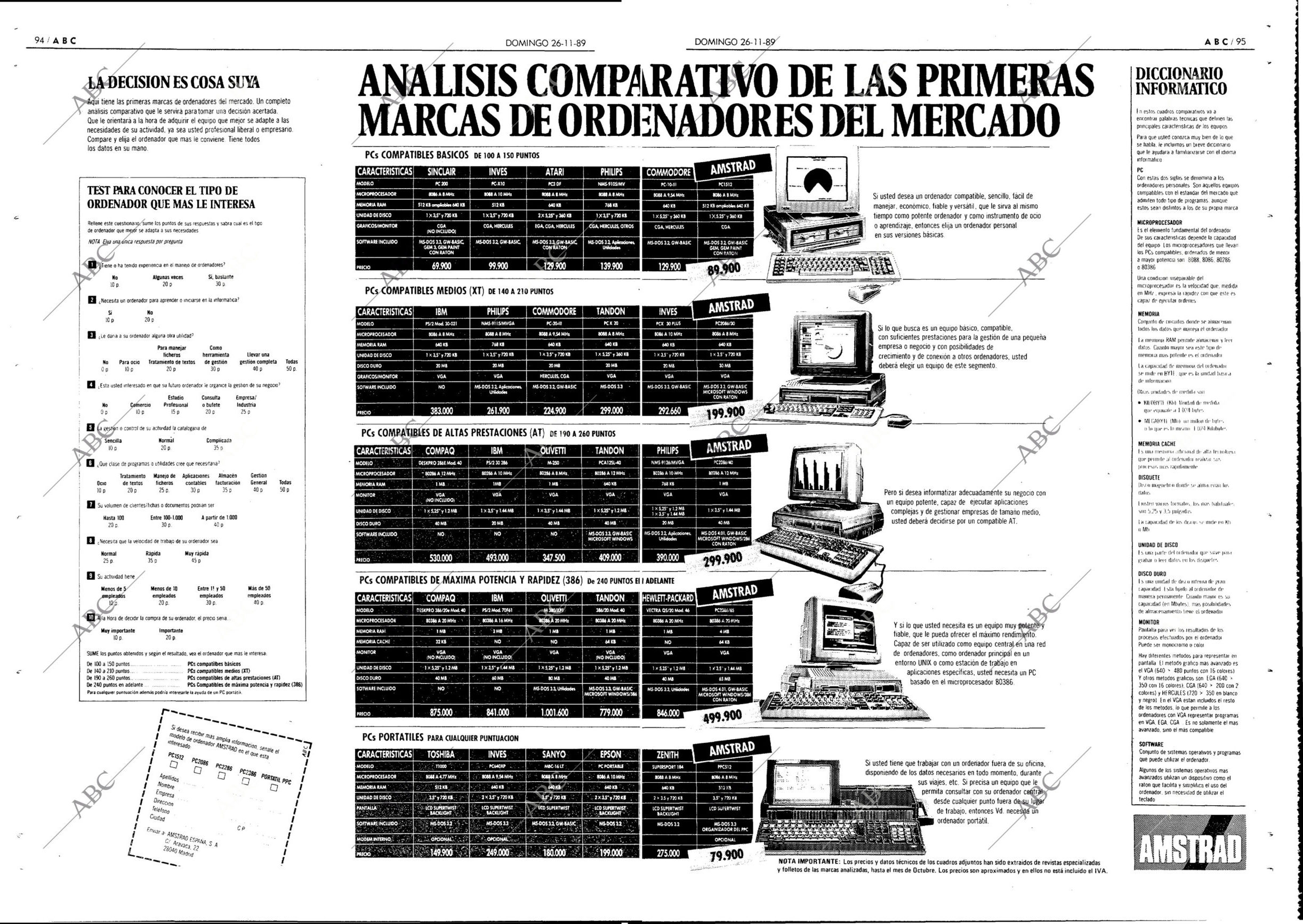Guía de compras PC compatibles 1989