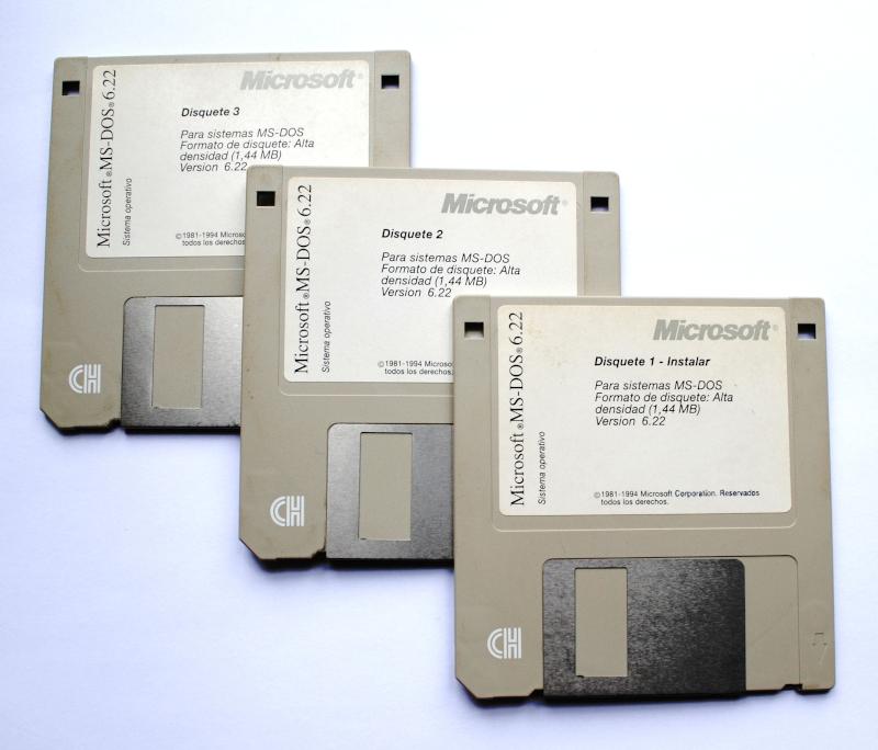 Disquetes MS-DOS 6.22