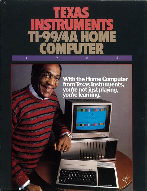 Anuncio del TI-99/4A de Texas Instruments con Bill Cosby
