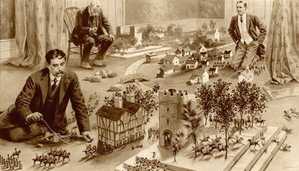 H.G Wells jugando a Little Wars